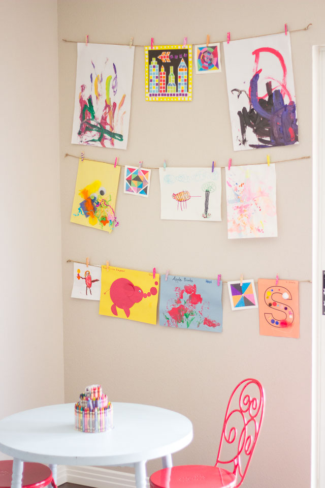 11 ways of displaying your child s artwork bright star kids