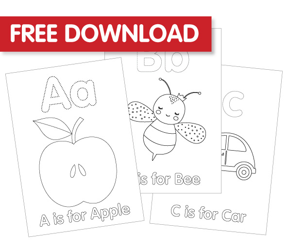 Free ABC Colouring In Printable