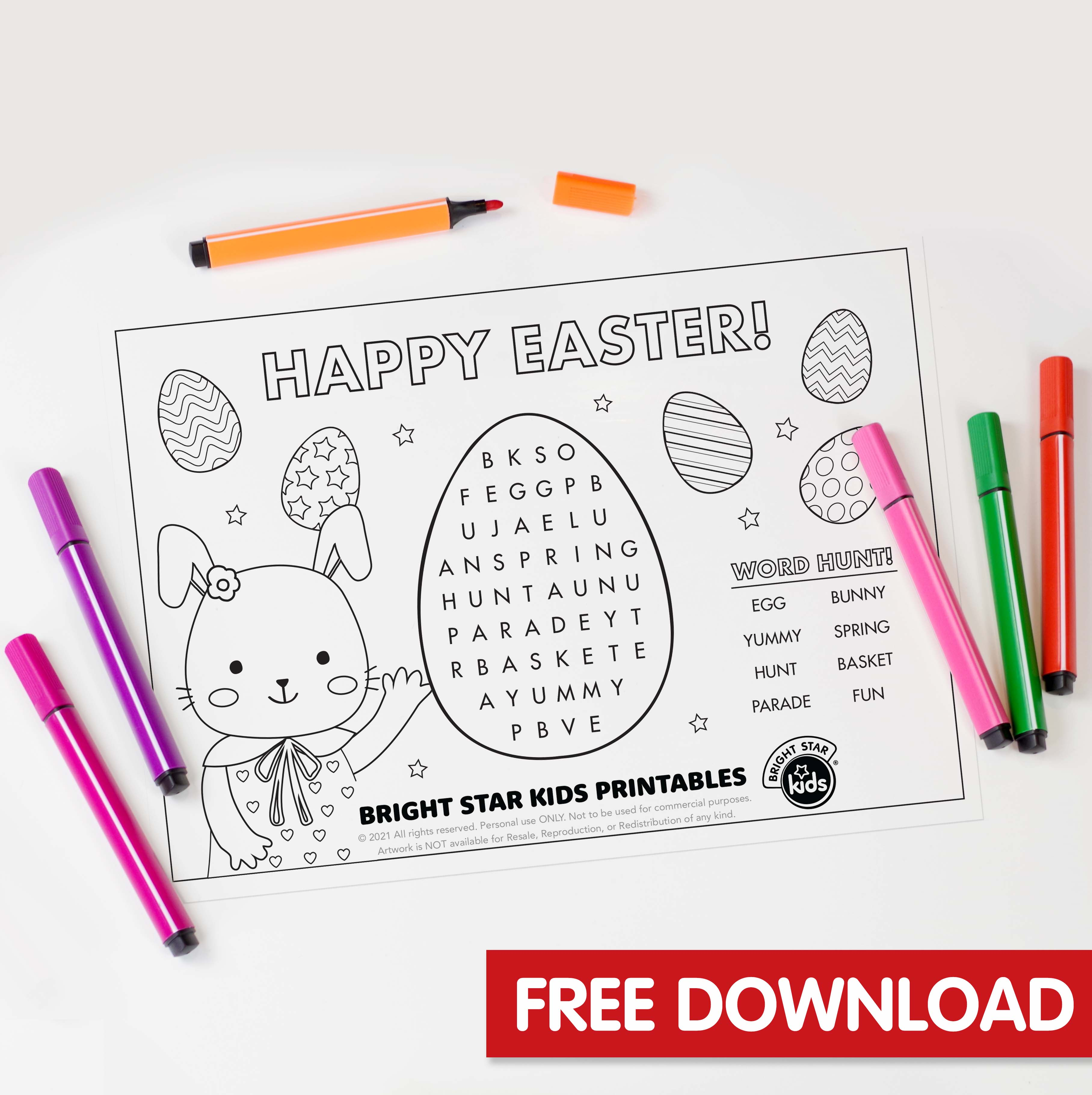 Easter Find A Word Printable