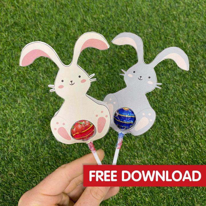 Easter Bunny Lollipops Craft