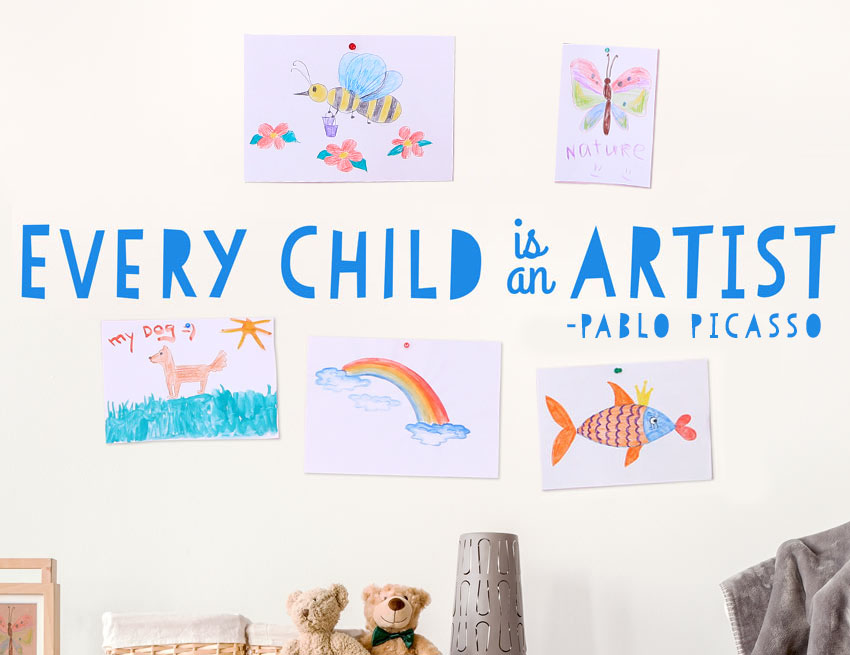 11 Ways of Displaying your Child's Artwork
