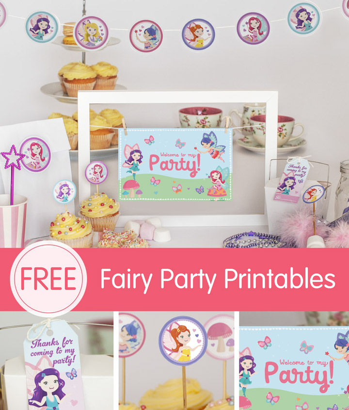 By Free Fairy Party Printables For Your Little Girls Birthday