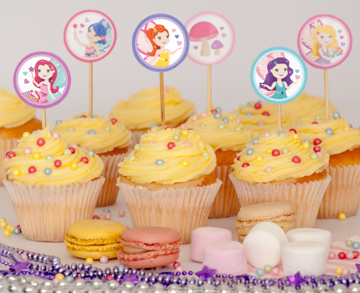 Free Fairy Party Cupcake Toppers.