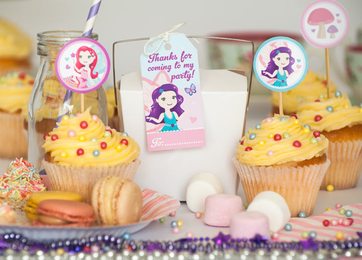 Free Fairy Party Tags.