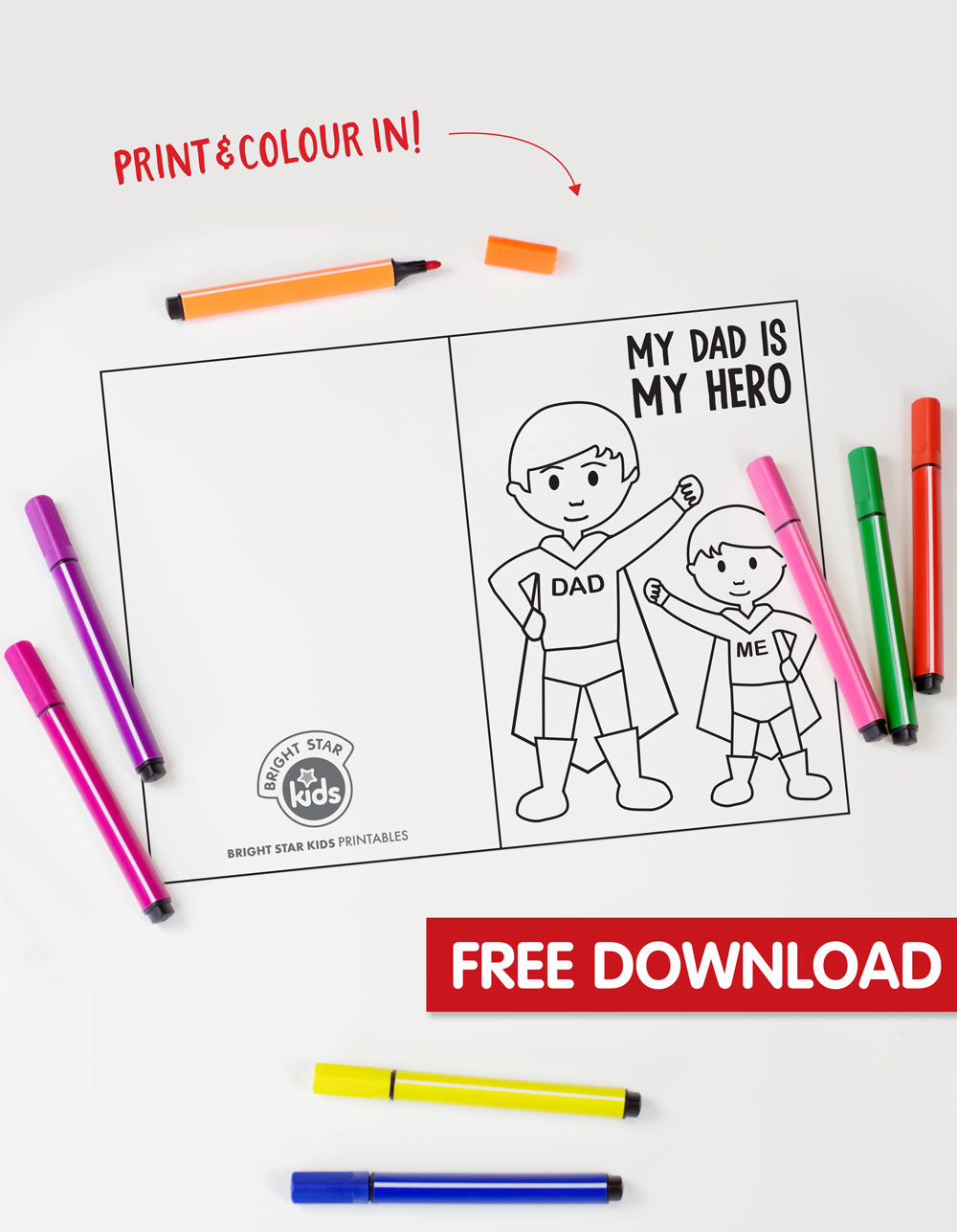Super Dad: Father's Day Printable