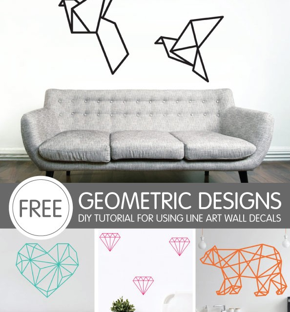 Geometric Shapes Tutorial using Line Art Wall Decals