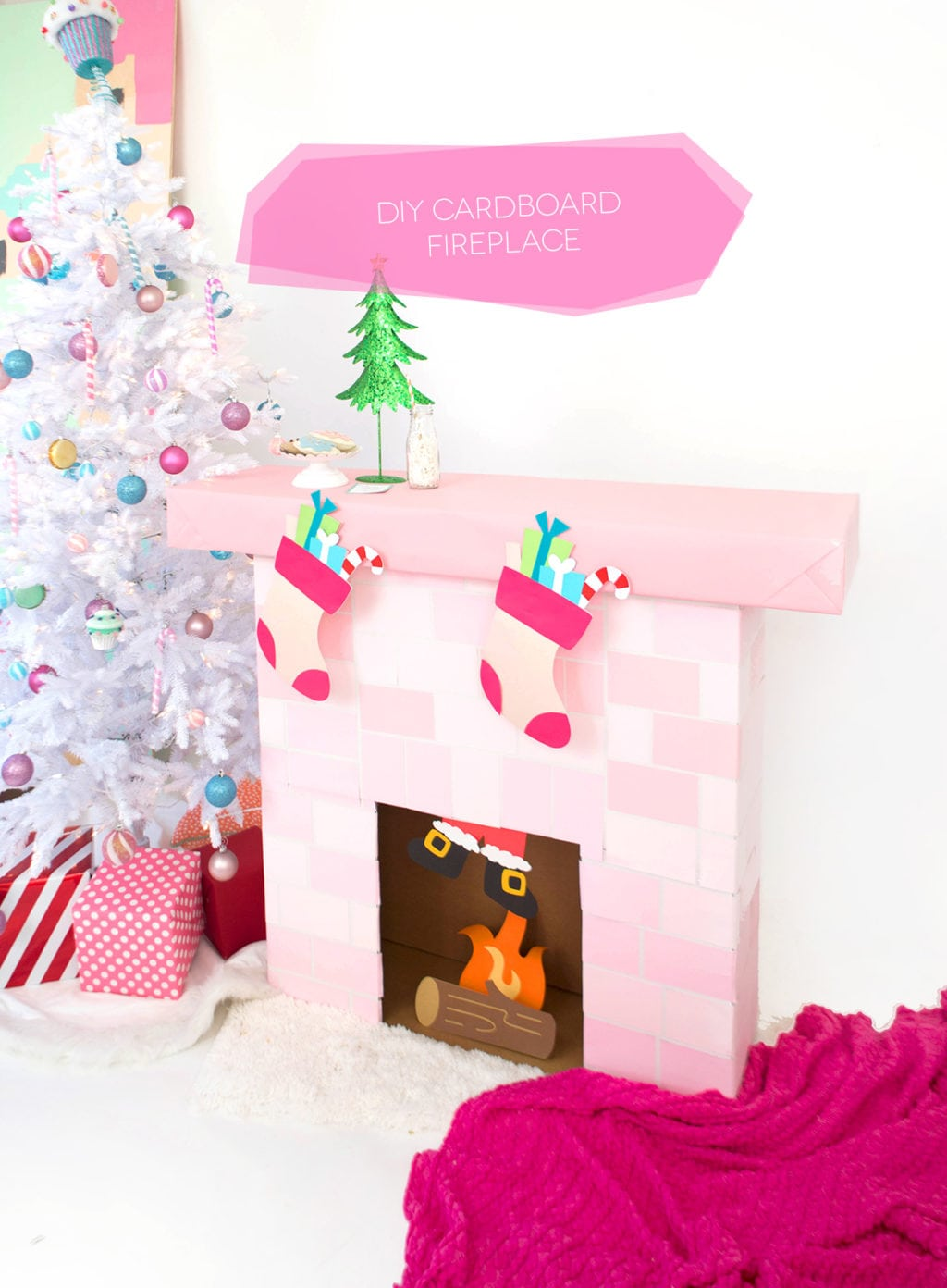 Faux Fireplace: 10 Easy DIY Faux Christmas Fireplace Inspo