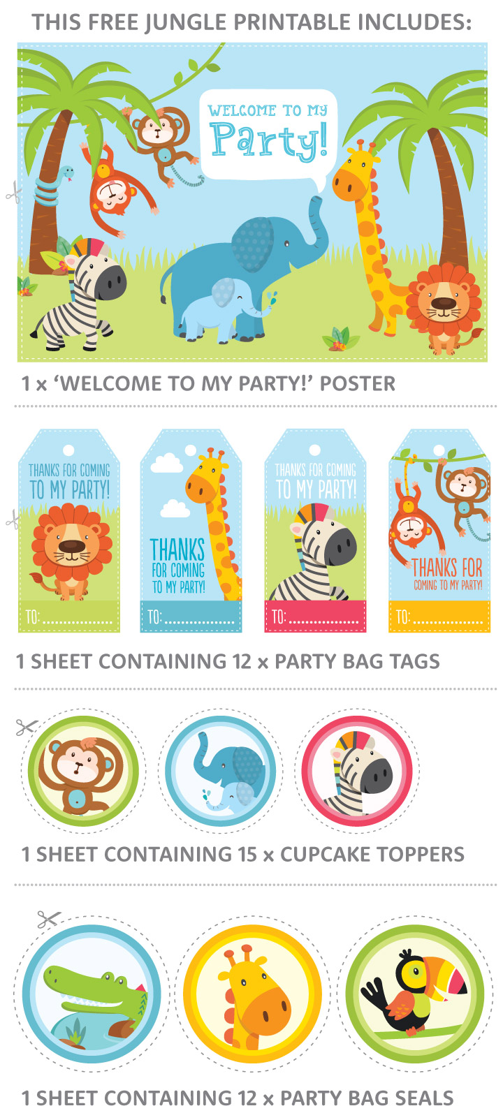 Free Jungle Party Invitation Printables