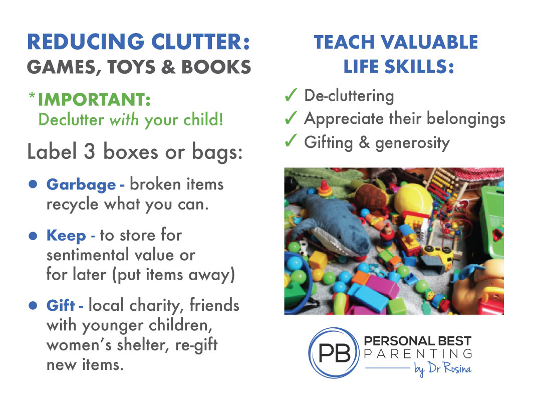 De-cluttering before Christmas & Teaching your Kids Life Skills