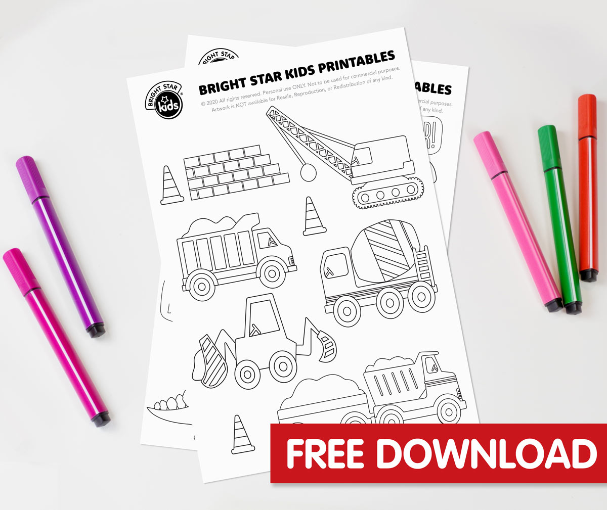 Construction Colouring In Printable