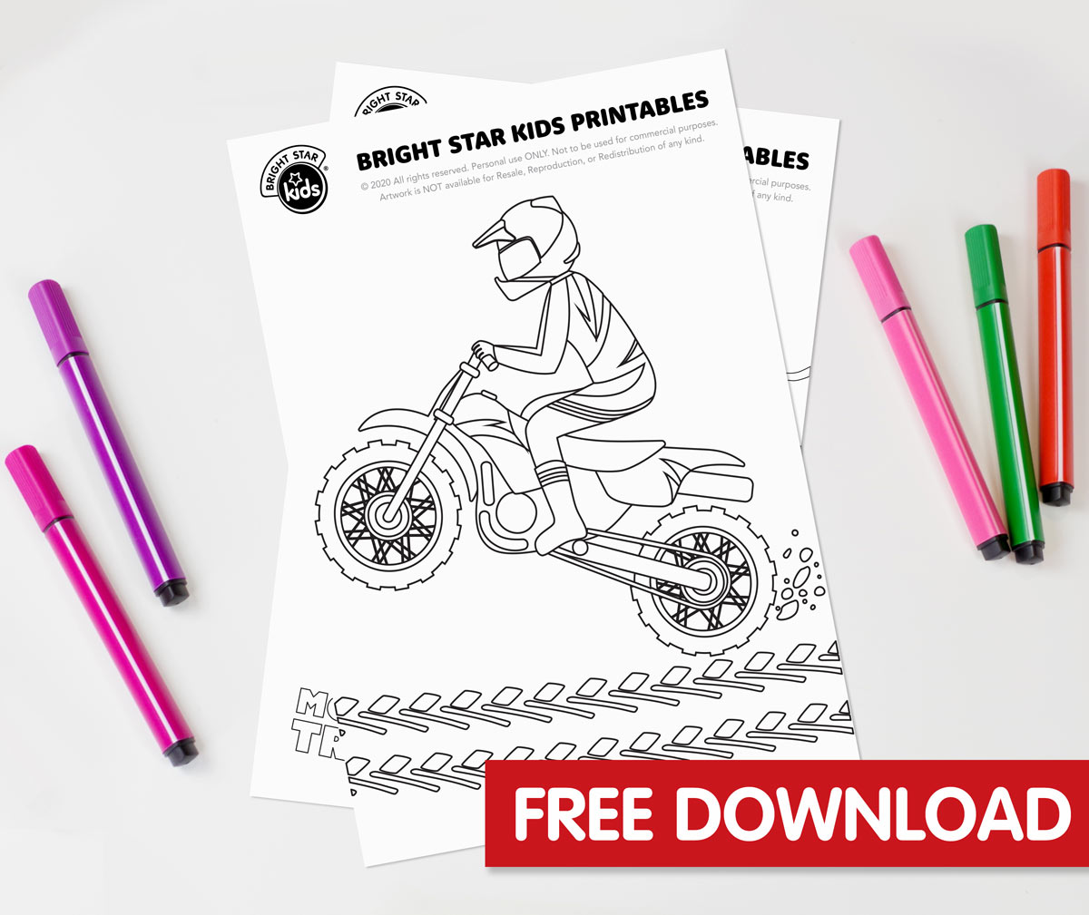 Dirt Bike Colouring In Printable
