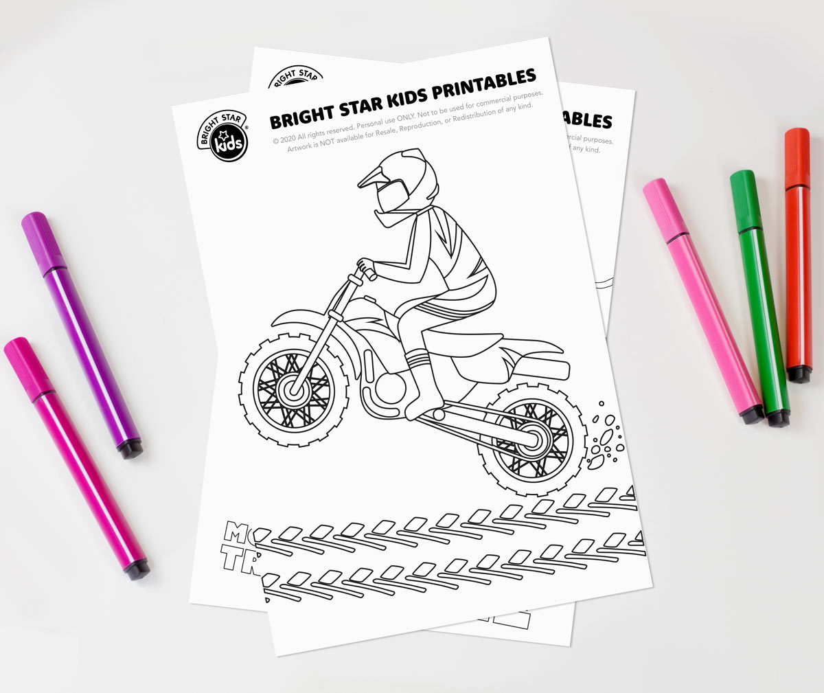 Dirt Bike Colouring In