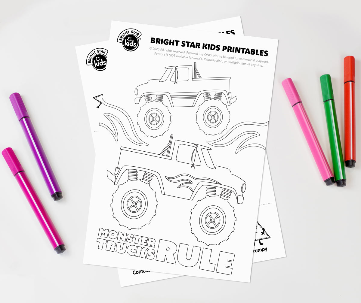 Monster Truck Colouring In