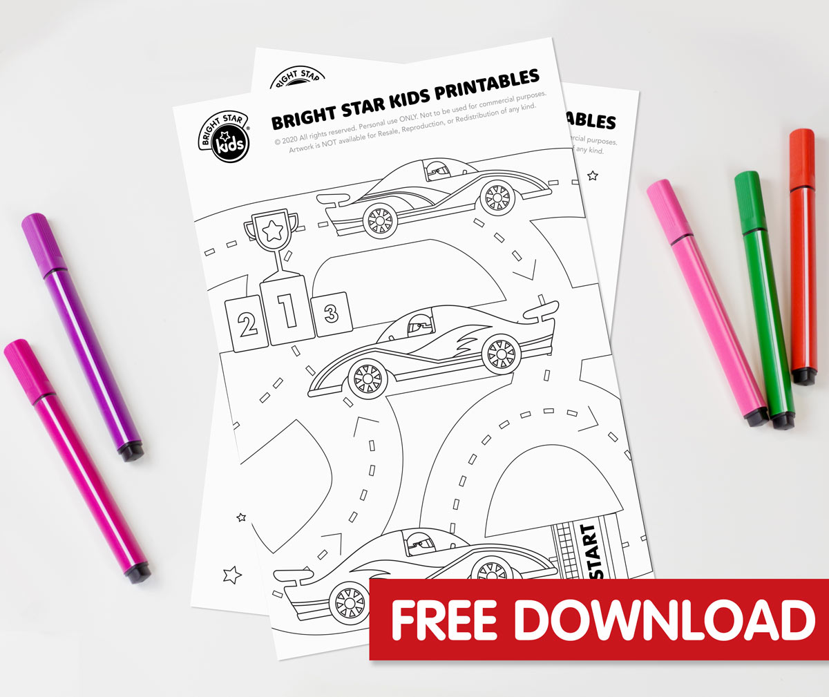 Race Cars Colouring In Printable