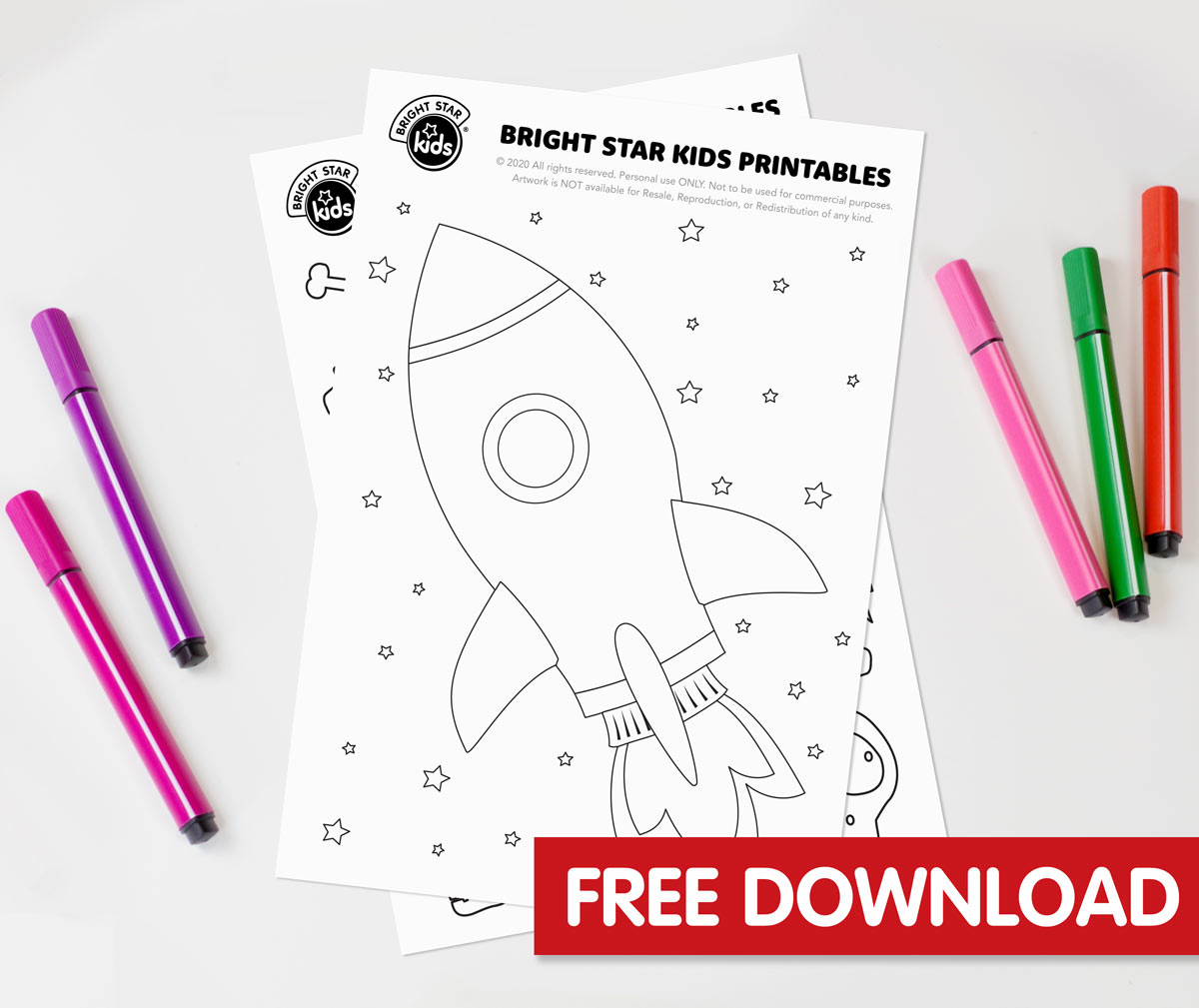 Rocket Colouring In Printable