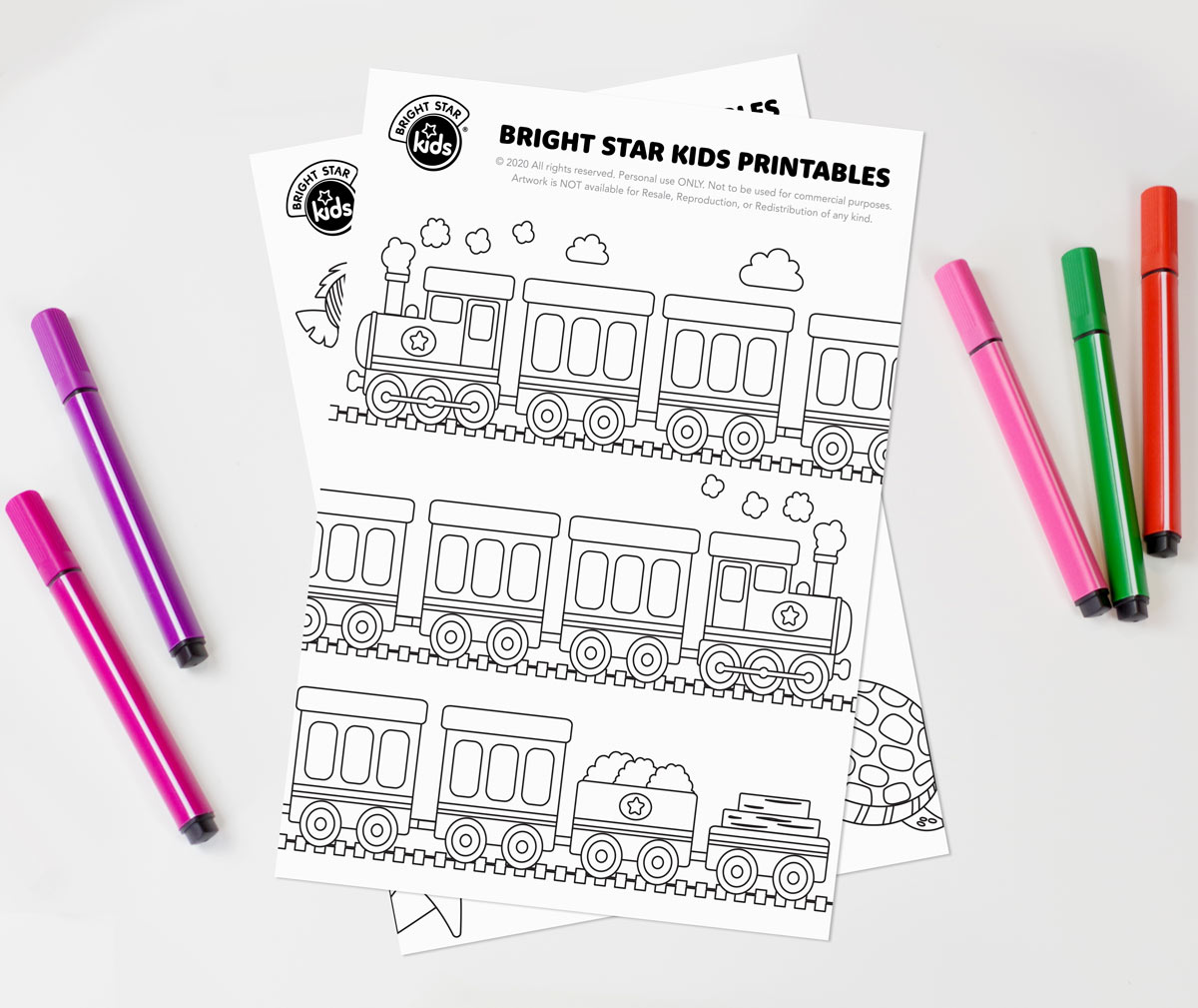 Train Colouring In Printable