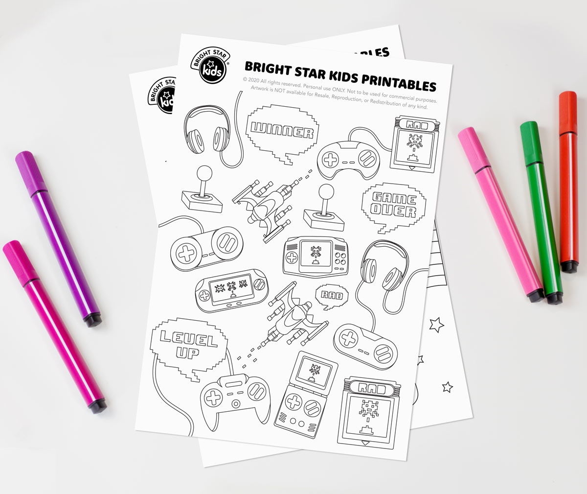 Video Game Colouring In Printable