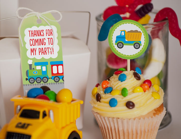 Free Transport Party Printables.
