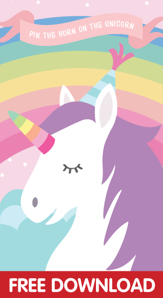Pin The Horn On Unicorn Free Printable