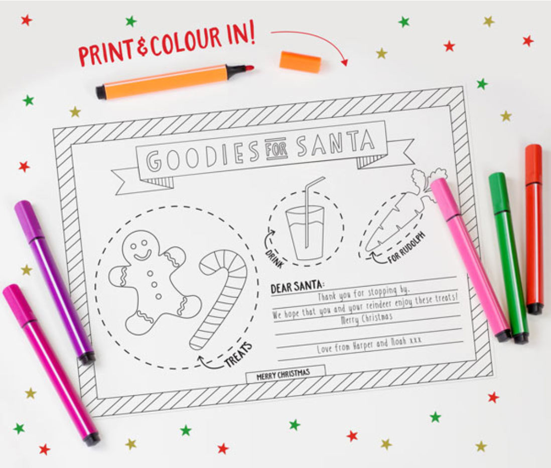 Free Christmas Placemat Printable Bright Star Kids