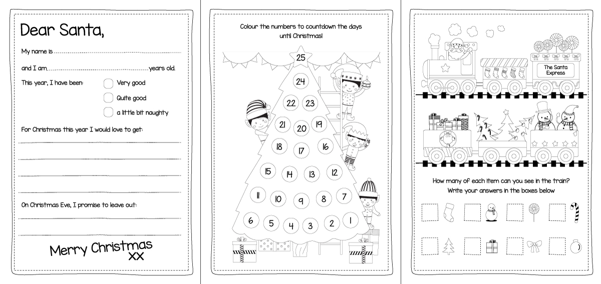 Free Christmas Activity Book Printable - Bright Star Kids