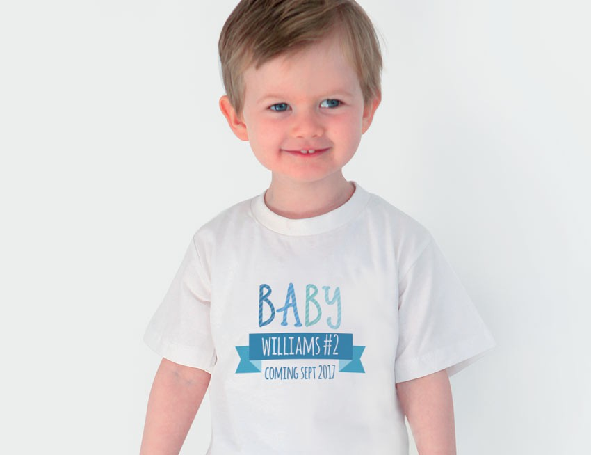 0e7f987f Celebrate your child's upcoming promotion with these super cute  personalised sibling announcement shirts.
