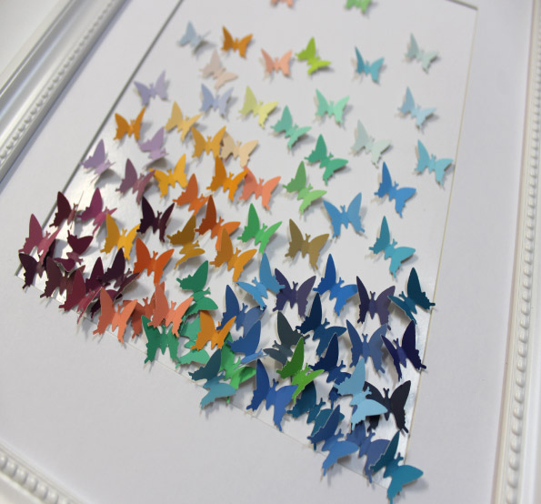 Butterfly Art Using Paint Swatches
