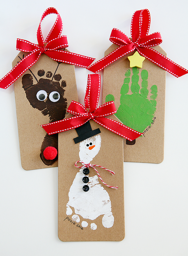 these gorgeous diy hand and footprint ornaments are super easy to make and will be a treasured reminder of your little ones very first christmas for years
