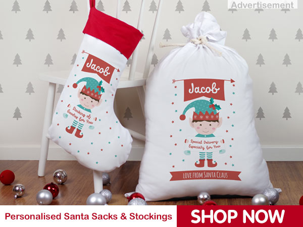 christmas sack and stocking