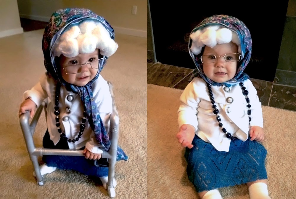 this adorable elderly baby costume is sure to melt everyones hearts this halloween