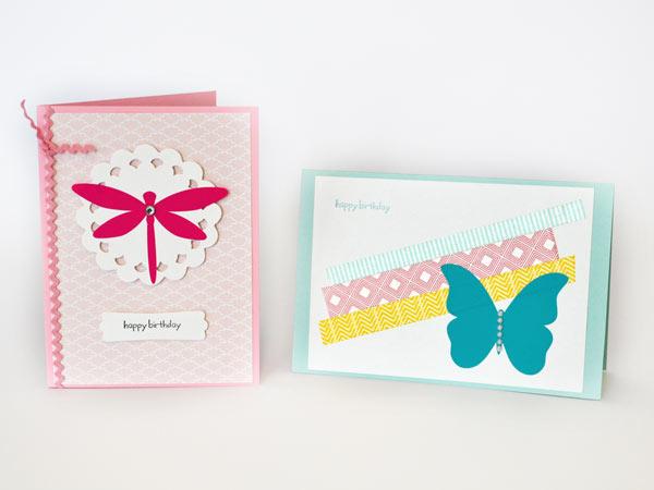 handmade cards using extra decals