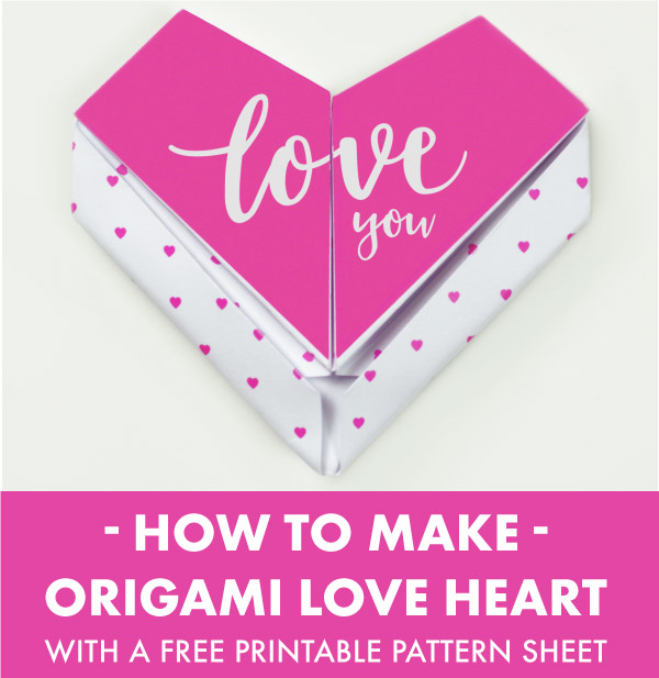 Origami Puffy Heart Instructions - 3D Paper Heart - DIY - Paper ... | 617x600