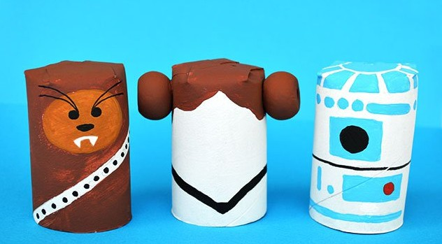 DIY toilet paper roll craft