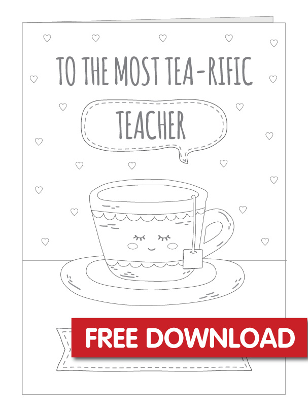 Free Printable Teacher Thank You Card
