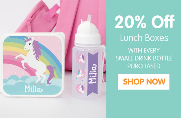 20% Off Lunch Boxes.