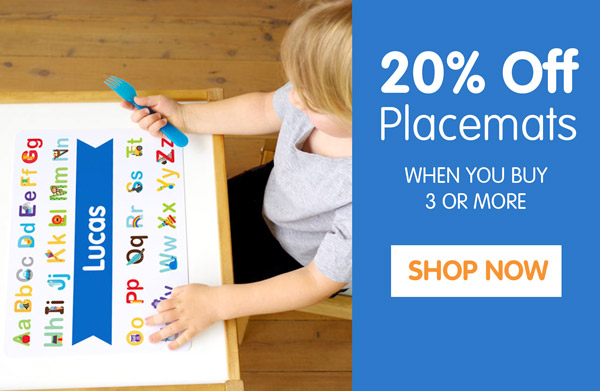 20% Off Placemats.