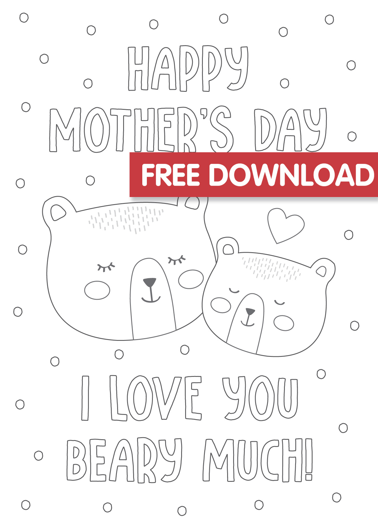 Free Mother's Day Colouring Card Printable