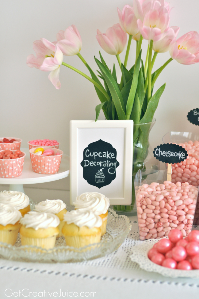 Girly Pink Cupcake Decorating Party!