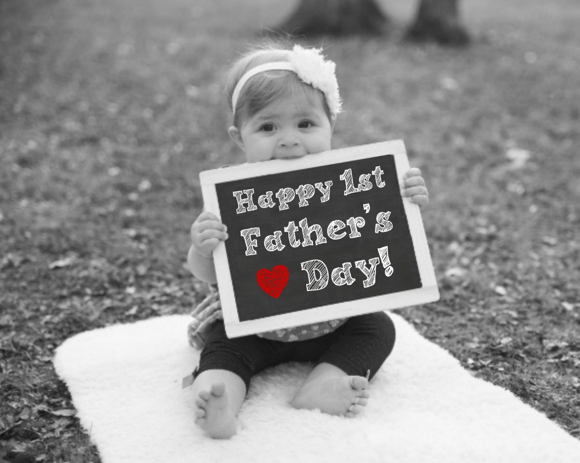 First Father's Day Chalkboard Photoshoot