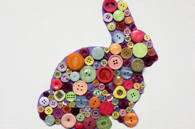 Button Bunny Easter Craft