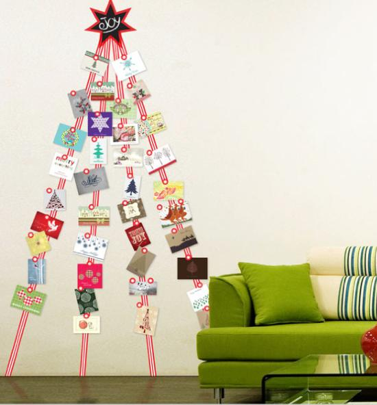 Tracyville holiday flavored tips how to creatively - Christmas card wall holder ...