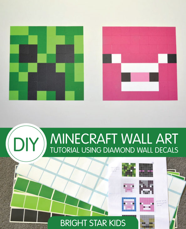 DIY Minecraft Tutorial Using Diamond Wall Decals
