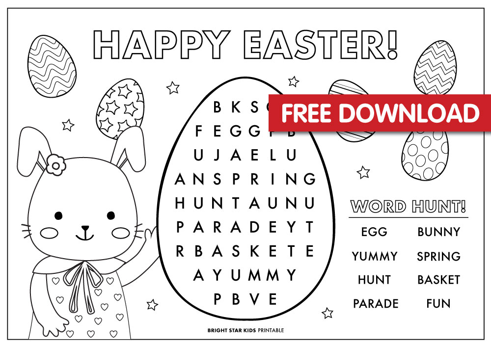 Free Easter Colouring in Printable