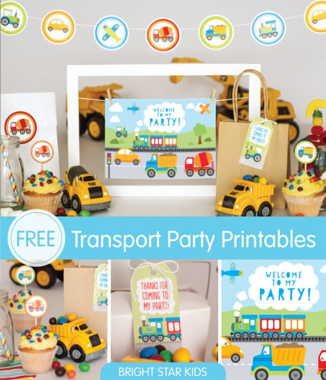 Transport Party Printable.