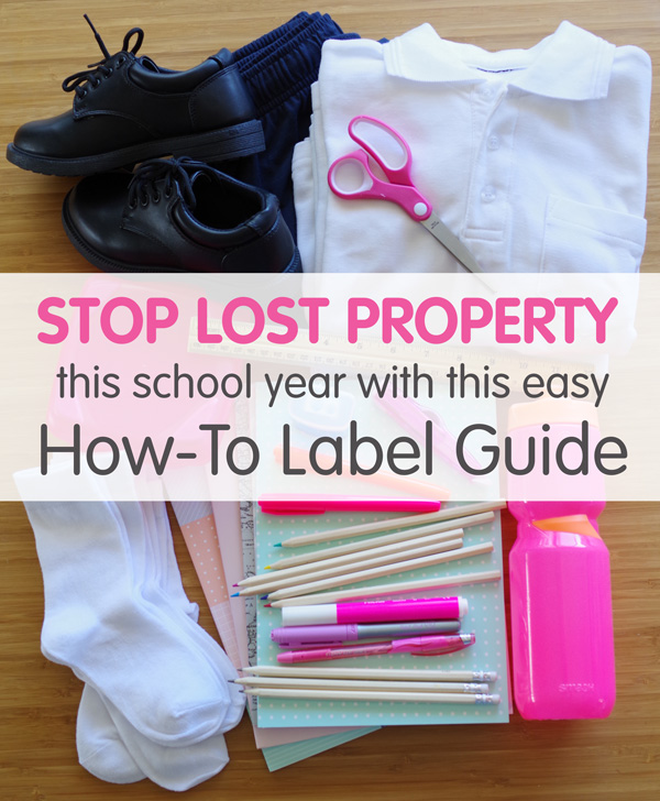 Labelling Guide for Back to School.