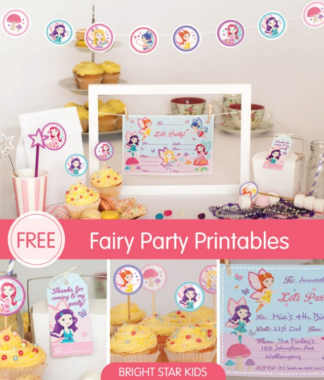 Free Fairy Party Printables.