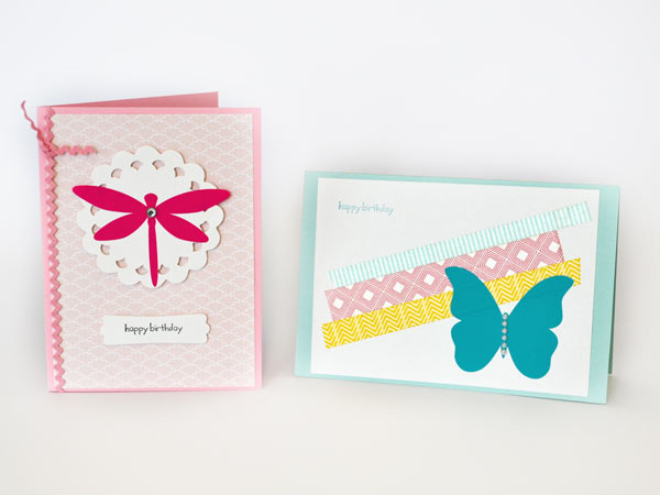 handmade cards using extra decals