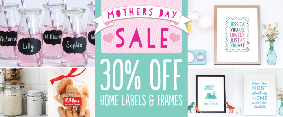 Save 30% on Household Labels and Frames